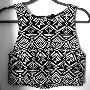 H&M Printed Halter Top